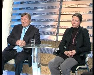 Участники прогпраммы - эксперты адвокат Александр Примак и юрист Елизавета Алауз